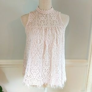 Altar'd State High Neck Lace Top